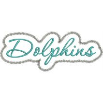 Dolphins Applique Script Zig Zag Snap Shot