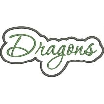 Dragons Applique Script Satin Snap Shot