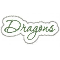 Dragons Applique Script Zig Zag Snap Shot
