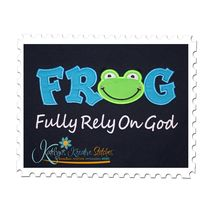 FROG Applique Text