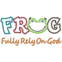 FROG Applique Text Snap Shot