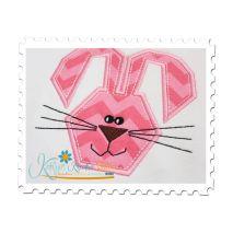 Funny Bunny Applique Close Up
