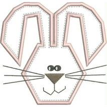 Funny Bunny Applique Snap Shot