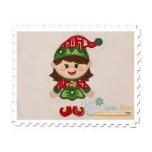 Girl Elf Applique 1