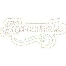 Hounds Distressed Applique Snap Shot