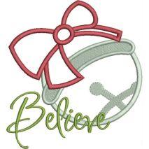 Believe Jingle Bell Applique Snap Shot