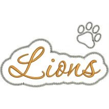 Lions Applique Script Zig Zag Snap Shot