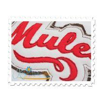 Mules Distressed Applique Close Up
