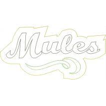 Mules Distressed Applique Snap Shot
