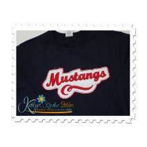 Mustangs Distressed Applique