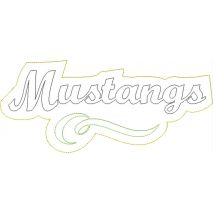 Mustangs Distressed Applique Snap Shot