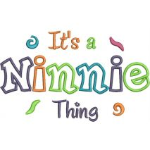 It's a Ninnie Thing Applique Snap Shot (6x10 and 11x7)
