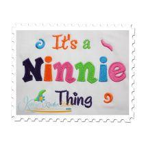It's a Ninnie Thing Fill Stitch (5x7)