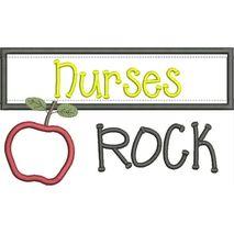 Nurses Rock Chalkboard Applique Snap Shot
