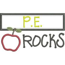 P.E. Rocks Chalkboard Applique Snap Shot