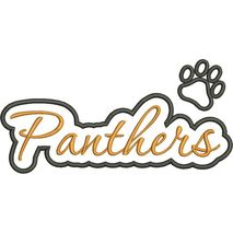 Panthers Applique Script Satin Snap Shot