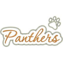 Panthers Applique Script Zig Zag Snap Shot