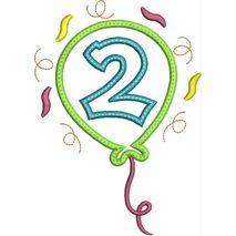 Party Balloon Applique Number Set #2 Snap Shot