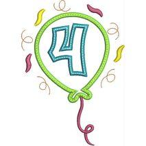 Party Balloon Applique Number Set #4 Snap Shot