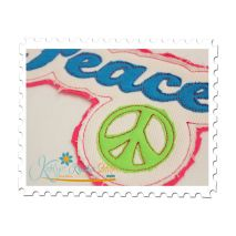 Peace Distressed Applique Close Up