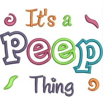 It's a Peep Thing Applique Snap Shot