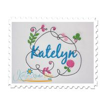 Springtime Frame shown with Optional Name