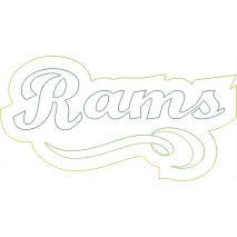 Rams Distressed Applique Snap Shot