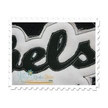 Rebels Distressed Applique Close Up