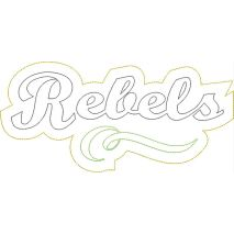 Rebels Distressed Applique Snap Shot