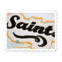 Saints Distressed Applique Close Up