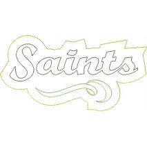 Saints Distressed Applique Snap Shot