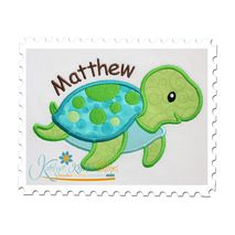 Sea Turtle Boy Applique