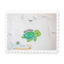 Sea Turtle Boy Applique Tee