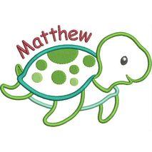 Sea Turtle Boy Applique Snap Shot