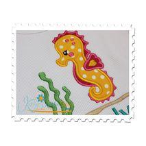 Seahorse Girl Applique on a Ribbed Tank Top