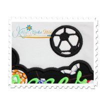 Soccer Applique Script Close Up