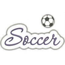 Soccer Applique Script Zig Zag Snap Shot