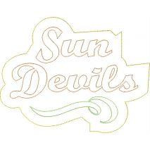Sun Devils Distressed Applique Snap Shot