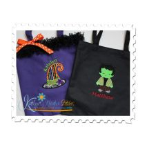 Witch Hat Applique and Little Frankie Samples