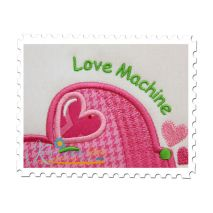 Sweat Heart Car Applique Close Up