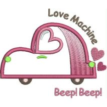 Sweat Heart Car Applique Snap Shot