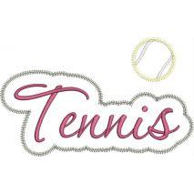 Tennis Applique Script Zig Zag Snap Shot
