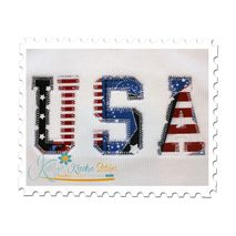 USA Vintage Applique