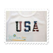 USA Vintage Applique on a Tank Top