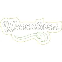 Warriors Distressed Applique Snap Shot