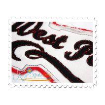 West Point Distressed Applique Close Up