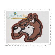 Wolf Applique 5x7