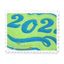 2024 Distressed Applique Close Up