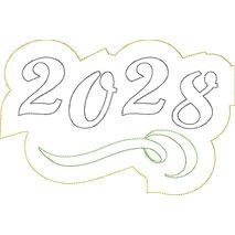 2028 Distressed Applique Snap Shot
