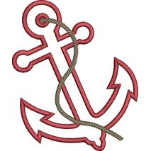 Anchor Applique Snap Shot